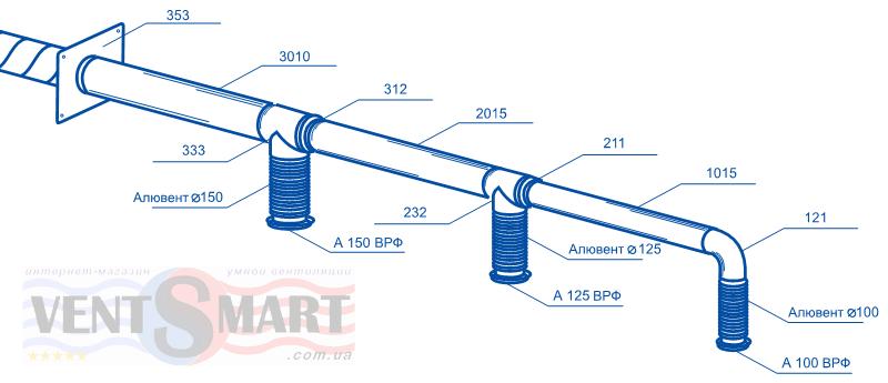 Схема вентиляции из пластиковых труб своими руками