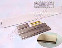 Защита порогов - накладки на пороги Ford FUSION с 2002-  (Standart)