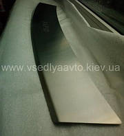Накладки на задний бампер с загибом для SKODA Rapid liftback с 2013 г. (NataNiko)