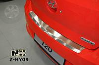 Накладка на бампер с загибом для Hyundai i20 с 2010 г.