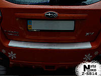 Защита бампера - накладка на бампер с загибом Subaru XV 2012+