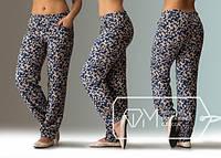 Бежевые модные штаны большого размера в цветочном принте от производителя