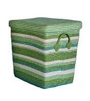 Корзина для белья с крышкой маленькая Natural House HZ-552S зеленая