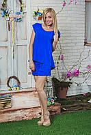 Костюм  женский летний с шортами синий, фото 1
