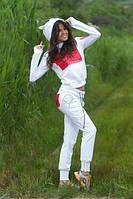 Спортивный костюм Капюшон с ушками белый
