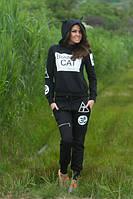 Спортивный костюм Капюшон с ушками черный