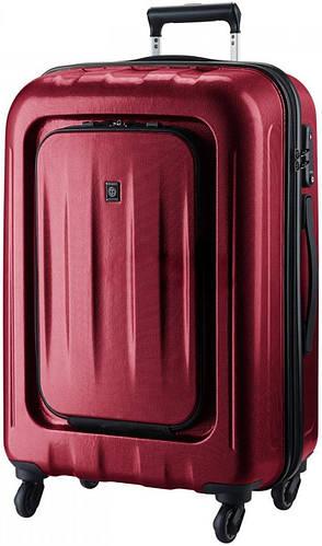 Красивый пластиковый чемодан на 4-х колесах 123 л. CARLTON Zakken 234J478;22 красный