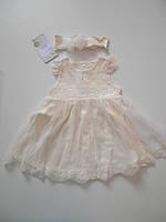 Крестильное платье+повязка ТМ Happy ToT