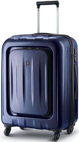Оригинальный пластиковый чемодан, четырехколесный 69 л. CARLTON Zakken 234J467;42 синий