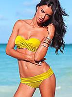 Купальник Виктория Сикрет.  Желтый цвет.