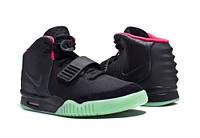 Мужские кроссовки Nike Air Yeezy 2 черный/зеленый/розовый