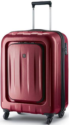 Яркий пластиковый чемодан на 4-х колесах 38 л. CARLTON Zakken 234J455;22 красный