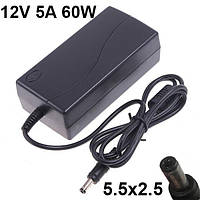 Блок питания зарядное устройство для монитора 12V 5A 60W 5.5x2.5 CTX LCD MONITOR