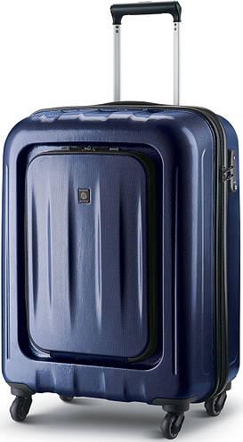 Пластиковый чемодан на 4-х колесах малого размера в 38 л. CARLTON Zakken 234J455;42 синий