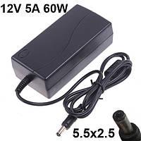 Блок питания зарядное устройство для монитора 12V 5A 60W 5.5x2.5 Phillips 180MT LCD TV