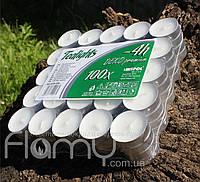 Свечи чайные (таблетки), белые парафиновые в алюминиевом корпусе, упаковка 100 шт
