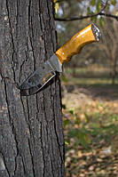 Нож ручной работы Медведь с кожаным чехлом + эксклюзивные фото