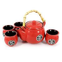 """Керамический чайный сервиз на подставке """"Счастливый дом"""" АS016"""