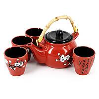 """Чайный сервиз Япония или набор для пуэра """"Белая вишня"""" АS037-1"""