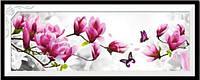 """Вышитая картина в наборе """"Ветка розовой Магнолии"""" 3Д"""