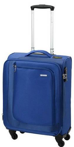 Яркий тканевый малый чемодан 41/48 л. Carlton Clifton 901J455;41 синий