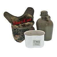 Фляга MIL-TEC в чехле с подстаканником Flecktarn, 14506021
