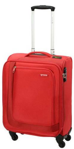 Надежный малый тканевый чемодан 41/48 л. Carlton Clifton 901J455;22 красный