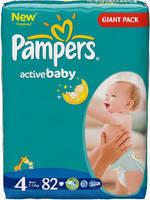 Підгузники Pampers Active Baby 4 maxi (7-14кг) 82 шт.