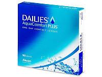 Однодневные контактные линзы FOCUS DAILIES AQUA COMFORT PLUS 90шт.