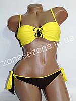 Женский купальник Teres 2311-1 жёлтый со съёмными лямками