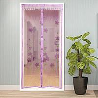 Антимоскитная дверная шторка на магнитах Ажур в ассортименте