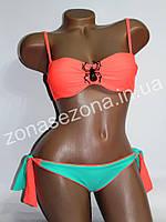 Женский купальник Teres 2311-1 оранжевый со съёмными лямками