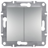 Asfora PLUS выключатель двухклавишный проходной