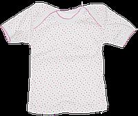 Детская футболка в горошек, хлопок (кулир-пинье), ТМ Ромашка, р. 80, 86, Украина