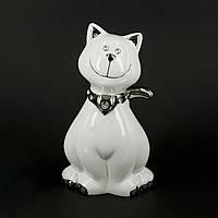 """Сувенир кот """"Милый пушистик"""" с платочком на шее в виде сердечка HYS21083-1"""