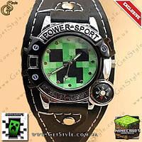 "Наручные часы MineCraft - ""Creeper Watch"" - водонепроницаемые!"