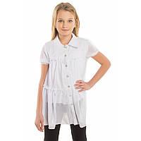 Блуза белая школьная для девочки подростка