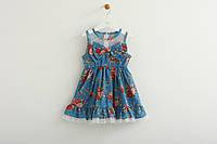 Детское летнее платье синего цвета