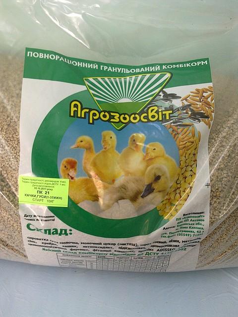 Как приготовить комбикорм для гусят