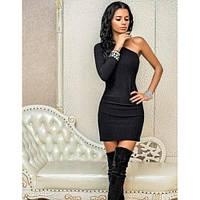 Женское Платье асимметрия 1 рукав