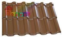 Металлочерепица ARAD Однотайловый лист (0,378м.кв) (в пленке)