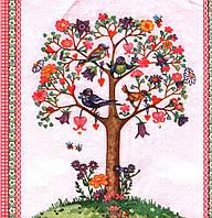 Салфетка декупажная Цветущее деревце с птицами 4779