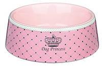 """Миска """"DOG PRINCESS"""" 0,45л/16см для собак и щенков, розовый"""