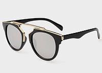 """Женские солнцезащитные очки, ретро - """"глаза кошечки"""", зеркальная тонировка линз"""