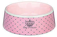 """Миска """"DOG PRINCESS"""" 1л/20см для собак и щенков, розовый"""