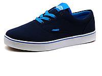 Кеды мужские Vans Old Skool, текстиль, темно-синие/ голубые, фото 1