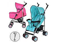 Коляска детская прогулочная BAMBI, ARIA S1-4, 2 цвета (бирюзов, малинов), колеса 8 шт, чехол на ножки