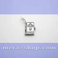 Молитвослов серебряный кулон-книжка