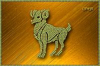 Схема для вышивки бисером Знаки зодиака. Овен КМР 5071