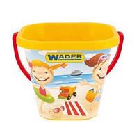 Квадратное ведерко для песка Wader 71714h